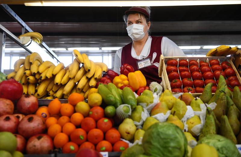 ЦБ: Снижение темпов роста цен на фрукты и овощи привело к сдерживанию инфляции